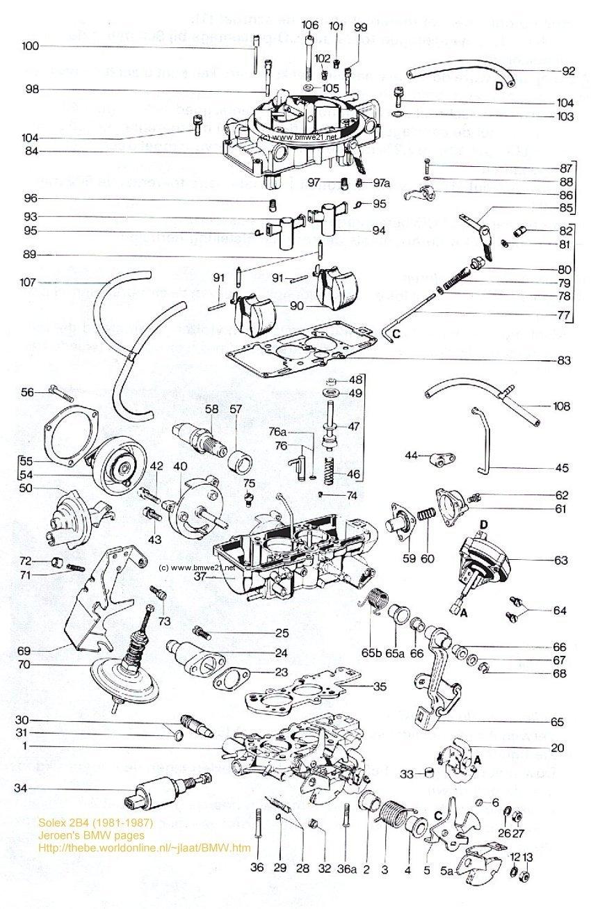 bmw 3 series e21 9 1979> european model factory specifications bosch k jetronic solex 2b4